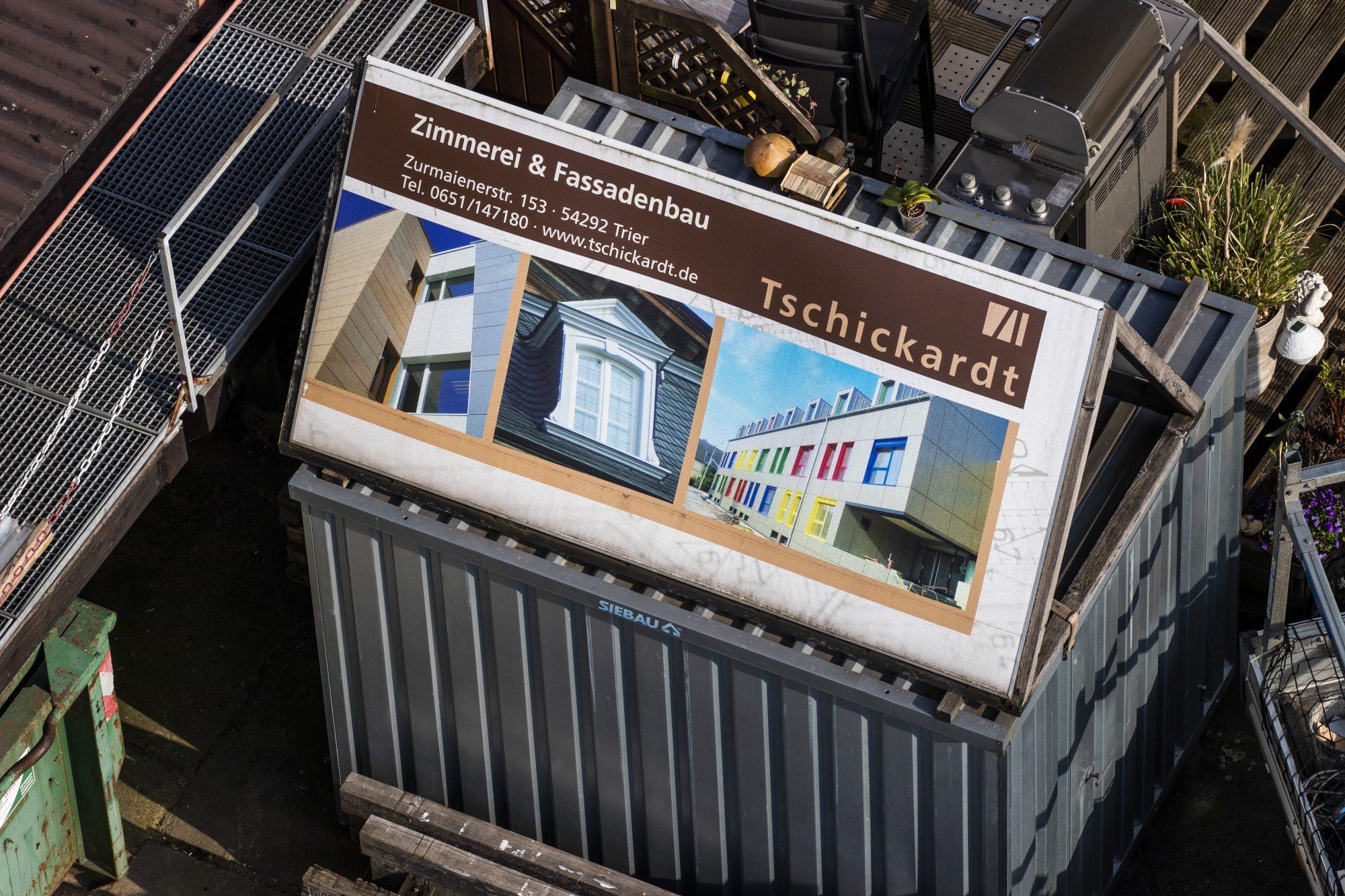 Zimmerei Tschickardt Firmengebäude aus der Vogelperspektive